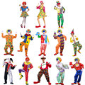 Хэллоуин Костюмы Для Взрослых Смешно Арлекин Цирк Клоун Костюм Непослушный Единая Необычные Dress Косплей Одежда для Мужчин Женщин