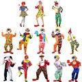 Trajes de halloween para adultos engraçado harlequin circus clown costume impertinente uniforme fancy dress cosplay roupas para mulheres dos homens