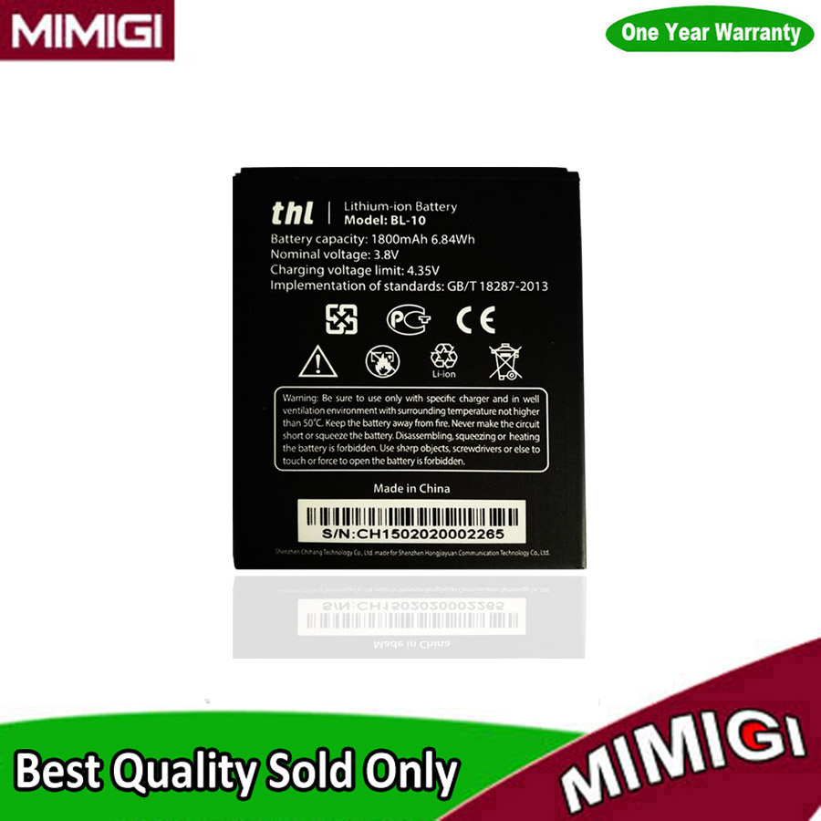 Original 1800mAh BL-10 BL10 Battery For THL T12 Batterie Batterij Batterije Batterija Accumulator ACCU AKKU AKU