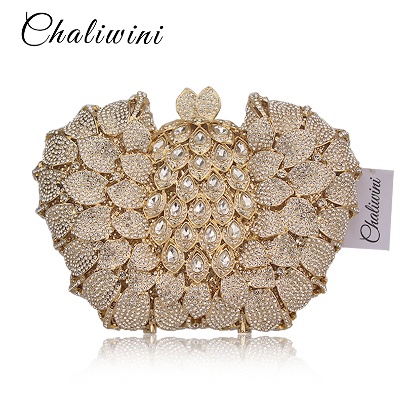 Chaliwin Diamond Stone handBag Luxury Women Evening Bags Designer Rewark Crystal Clutches Wedding With Chain Lady Party Purse new women luxury diamond shoulder finger ring evening bags handbag high quality clutches bags party wedding purse chain crystal