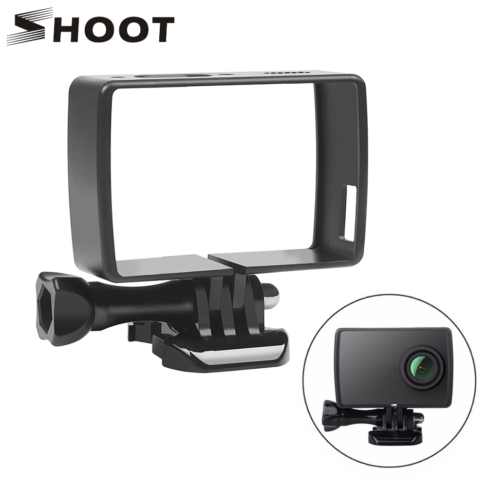 SHOOT Protective Frame Case for Xiaomi Yi 4K 4K+ Yi Lite Action Camera with Quick Release Buckle Thumb Screw Camera Accessories car styling brake master cylinder lever atv front left brake master cylinder for polaris sportsman 400 500 550 600 700 800 30