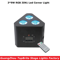 2017 Big Discount Mini Led Par Lights 3 9W RGB 3IN1 Led Corner Light Stage Effect