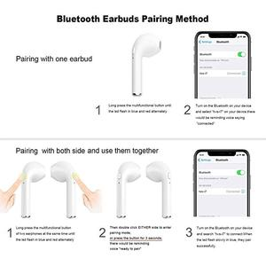Image 5 - Wireless Bluetooth 5.0 Earbuds I7S TWS Noise Cancelling True Twins Stereo Music Earphone With Charging Box For Phone PC