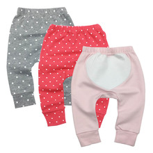 Купить с кэшбэком 3 pcs/set Newborn Baby Boys Girls Baby Girls Pants Unisex Casual Bottom Harem Pants PP Pants Fox Trousers 6M-24M