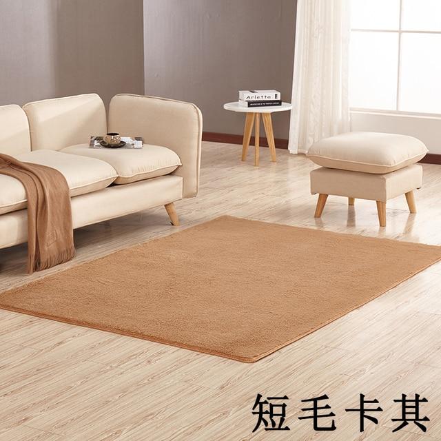 Soft Bedroom Rug Floor Mats Dining Living Room Carpet Home Office Silk Plush Car Mat For Bathroom Kitchen Rugs Candy Color