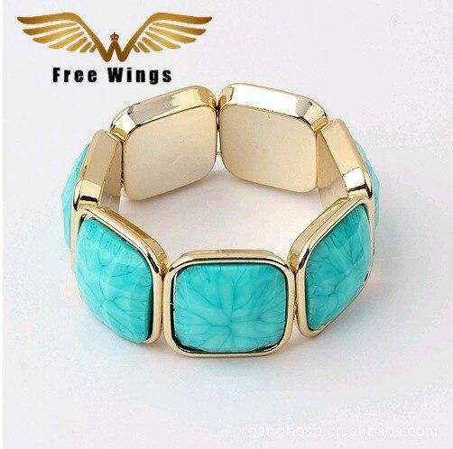 Brand Vintage Jewelry Striped Stone All-Match Bezel Setting Bracelets Bangles Wholesale