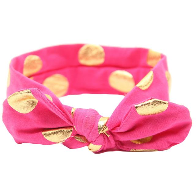 Hot! 12 colors Children girls headbands Baby cute rabbit ear headwraps fashion Gilding hair accessories Kids bowknot hair bands