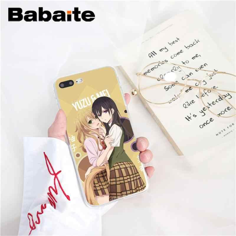 Babaite chica anime cítricos Yuzu Aihara Mei suave de TPU de la caja del teléfono de silicona para iPhone 8 7 6 6S Plus X XS X MAX 5 5S SE XR 10 Fundas