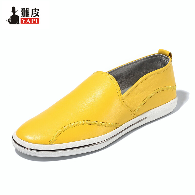 Must Have ! Spring Full Grain Leather Men Loafers Casual Full Grain Leather SLIP-ON Boat  Shoes Man Driving loafers new 2017 men s genuine leather casual shoes korean fashion style breathable male shoes men spring autumn slip on low top loafers