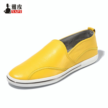 Must Have ! Spring Full Grain Leather Men Loafers Casual Full Grain Leather SLIP-ON Boat  Shoes Man Driving loafers