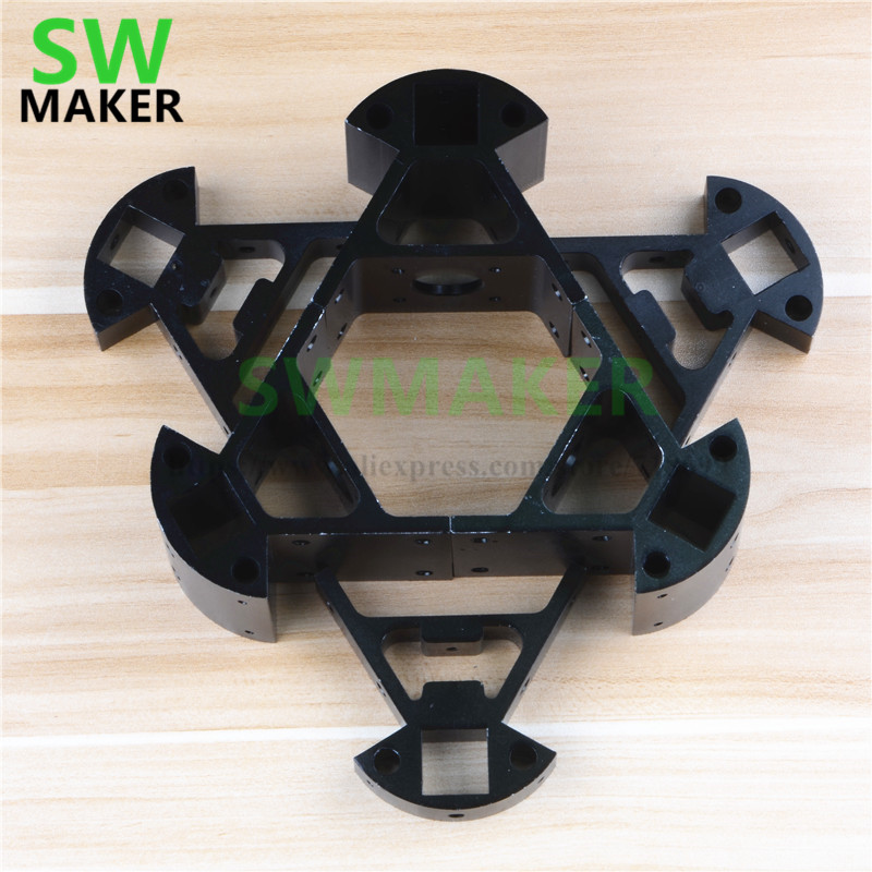 6pcs/set RepRap Delta Kossel Mini Corner Fitting Alloy Mount Frame Bottom Vertex+Top Vertex kit For 3d Printer 2020 Extrusions цена 2017