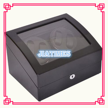 New Wholesale Luxury Black Auto Watch Winder 4 Watches Storage 6 Watch Chronometer Timepiece