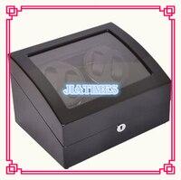 New Wholesale Luxury Black Auto Watch Winder 4 Watches Storage 6 Watch Chronometer Timepiece