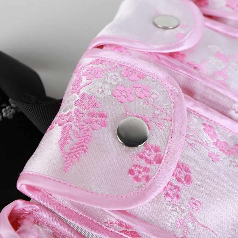 Twotwinstyle impresso cinto feminino bordado quatro saco da cintura botão das mulheres cinto tático outono 2019 roupas moda