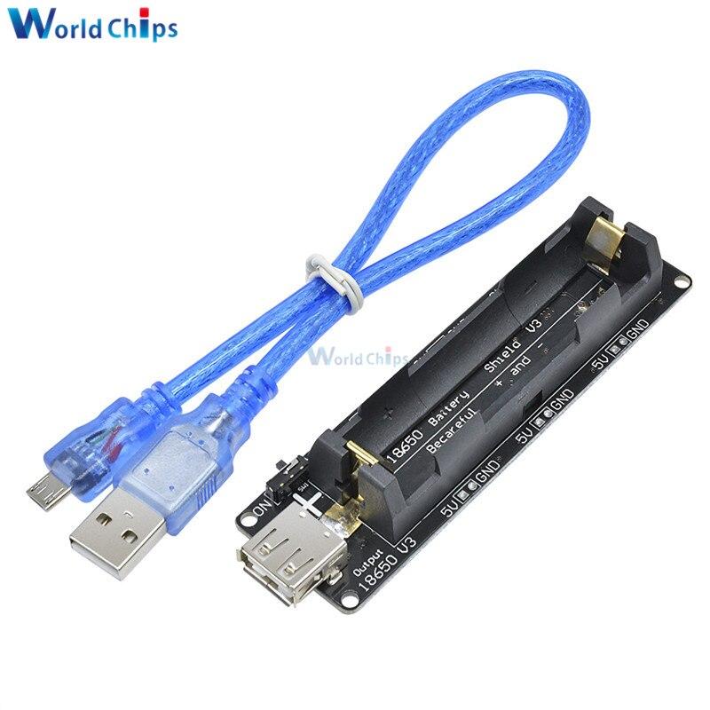 Raspberry Pi Wemos 18650 Battery Shield V3 ESP32 ESP-32 w//USB Cable For Arduino