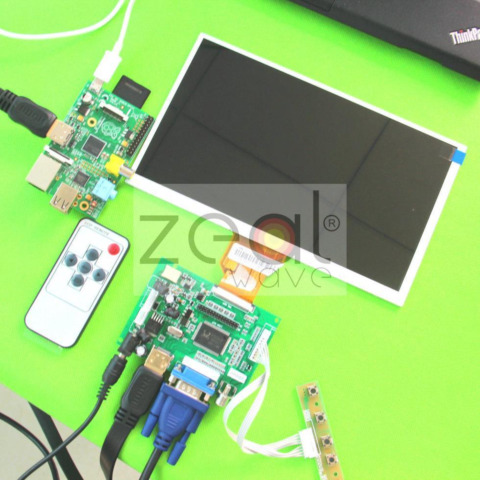 HDMI+VGA+2AV LCD Control Driver board+9inch AT090TN10 AT090TN12 800x480 lcd