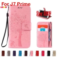 Best Cheap Deluxe Cute New Tree Cat Butterfly PU Leather Flip Wallet Case Cover For Samsung