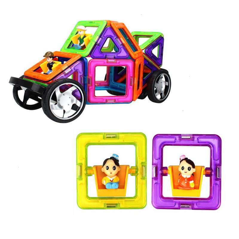 Neocub Magnetic Constructor Big Size Educational Toys Magnetic Designer DIY Boy and Girl Sheet Square Doll Blocks Toys for Kids