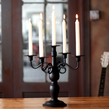 ways, wrought iron candlestick five furnishing articles, romantic candlelight dinner wedding birthday decorations