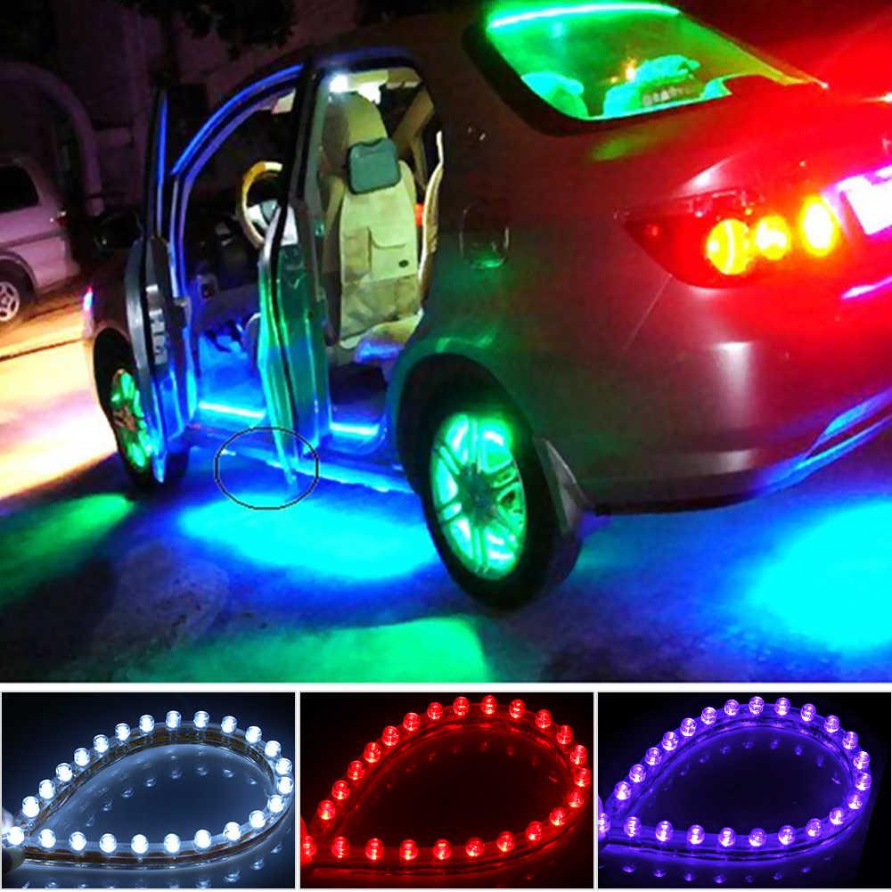 24cm 12V LED Car Daytime Running Light Waterproof Flexible White LED DRL Strip Tail Stop Brake Fog Lamp For Universal Cars