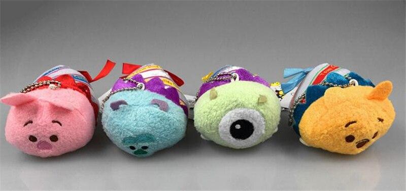Diseño de Navidad dibujos animados limitado Tsum accesorios de teléfono limpiador de pantalla paño lindo muñecas colgante llavero Mini peluche juguetes de peluche