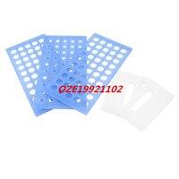 1 STÜCKE Labor Lab Blue Kunststoff 50 Buchse 13mm Durchmesser Reagenzglas Ständer Halter