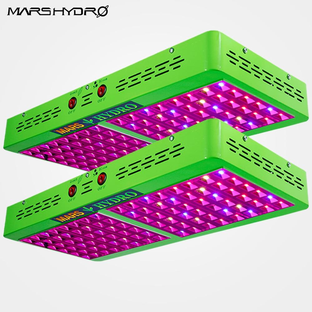2 шт. Mars Hydro отражатель 480 Вт светодиодный светать лампы полного спектра Вег Цветок гидропоники растений складе