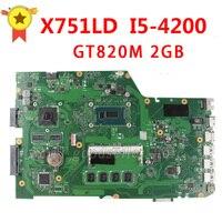 Original For ASUS X751LD X751L K751L K751LN Laptop Motherboard USB3 0 DDR3 With I5 4200 Cpu
