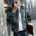 2016 hombres alta calidad de Denim shirt Slim Fit camisas casuales para hombre nueva marca americana europea ropa Chemise Homme L ~ 4XL