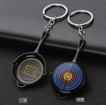 Game CS GO PLAYERUNKNOWNS BATTLEGROUNDS PUBG Cosplay Costume Metal key ring Pan Armor Model Keychain PUBG Accessories стоимость