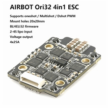 AIRBOT Brushed Ori32 4in1 ESC 4x25A 2020 Supports DSHOT 1200 Blhelis 25a Built Current Sensor Brushed ESC 30a For Fpv Quadcopter airbot typhoon32 4in1 esc 4 35a v2 1 support dshot 1200 blheli32 firmware 3 6s lipo input oneshot multishot dshot pwm