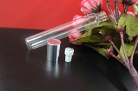 14ml Clear Glass Bottle Roll On Empty Fragrance Perfume Essential Oil Bottles With Stainless Steel Ball