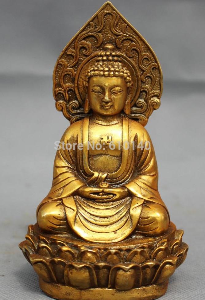 Folk Tibet Bronze Gilt Buddhism Shakyamuni Sakkyamuni Buddha Bowl StatueFolk Tibet Bronze Gilt Buddhism Shakyamuni Sakkyamuni Buddha Bowl Statue