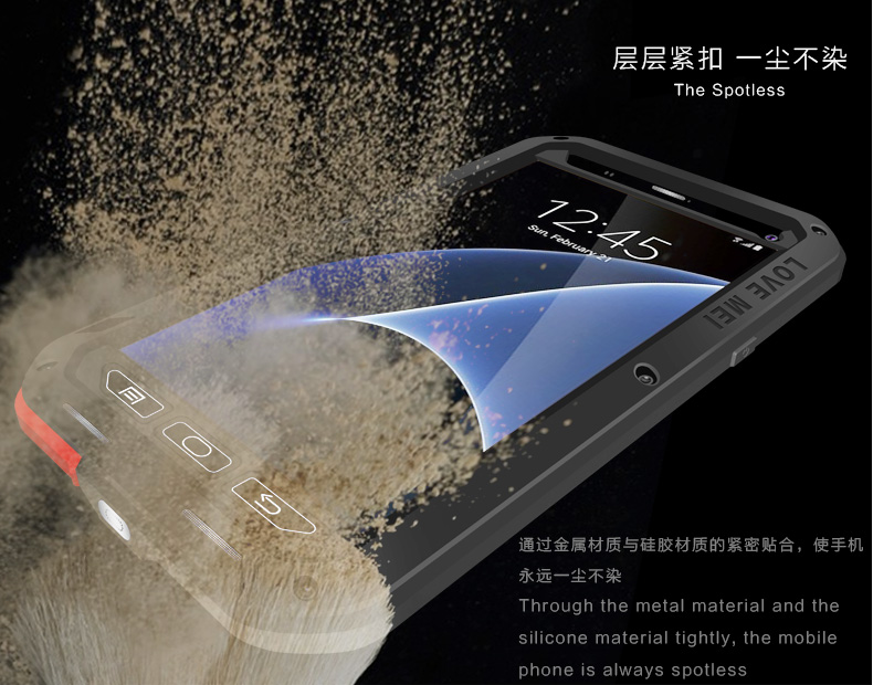 Image 3 - LOVE MEI Water Resistant Metal Case for SAMSUNG Galaxy S10 S8 S9  Plus S6 S7 Edge Note 10 9 8 A3 A5 2017 (6) A6 A8 A8S S10E A70Phone  Pouches