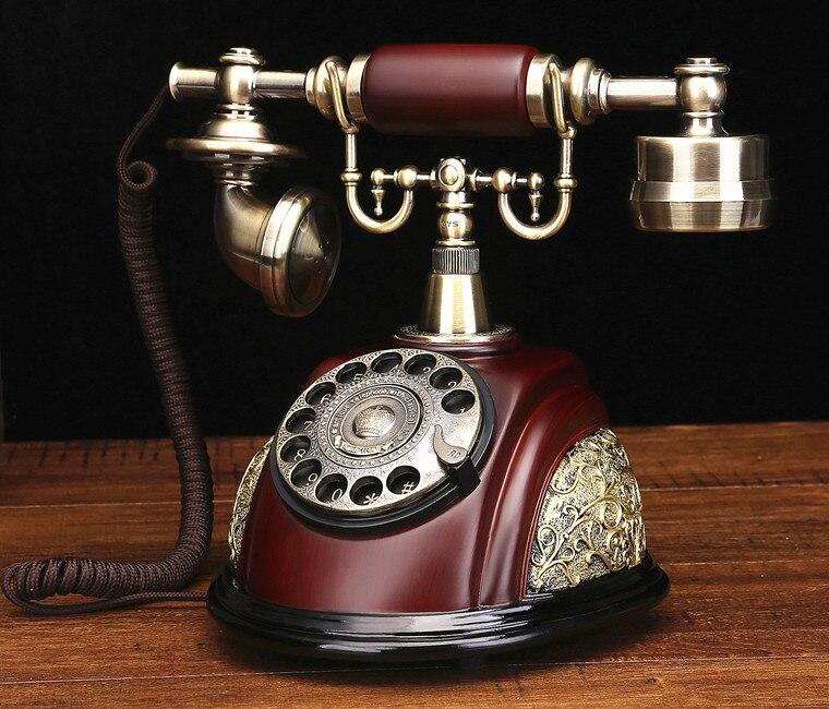 Klasik moda antika sabit telefon vintage döner arama numarası telefon|dial  phone|vintage antique telephoneantique telephone - AliExpress