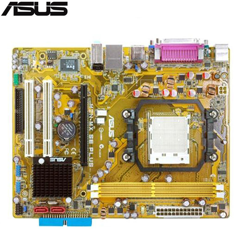 original Used Desktop motherboard For ASUS M2N-MX SE PLUS Socket AM2+ 2*DDR2 support 4G 2*SATA2 uATX original used desktop motherboard for asus p5ql pro p43 support lga7756 ddr2 support 16g 6 sata ii usb2 0 atx