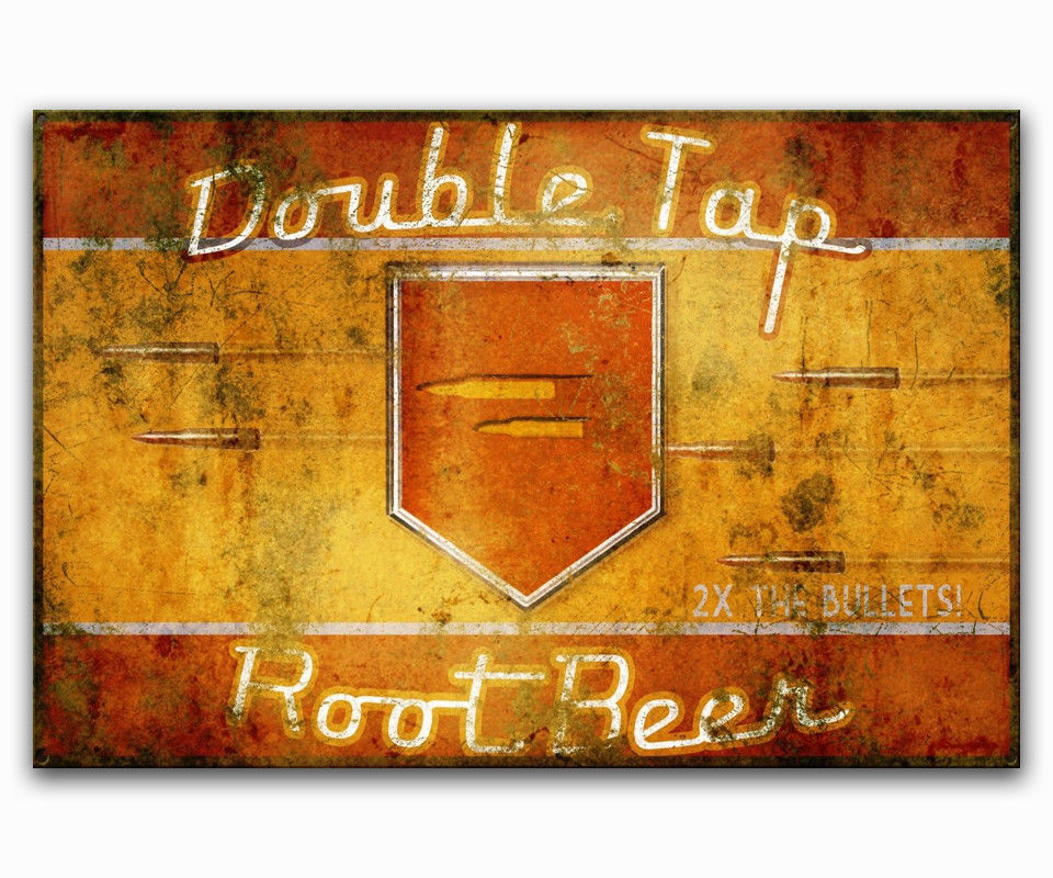 Hot New Zombies Double TAP Root Beer Black OPS-Silk Art Poster Wall Sticker Decoration Gift image