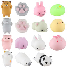 15pcs/set Kawaii Animal Squishy Stress Relief Toy Scented Soft Silicone Fidget Hand Slow Rising Squeeze Toys Pack Panda Dog Cat(China)