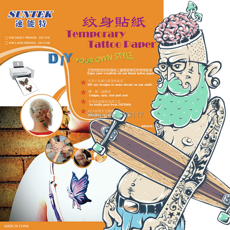 1 Piece Temporary Tattoo Sticker Water Transfer Wing: Inkjet Temporary Tattoo Transfer Printing Paper For Water