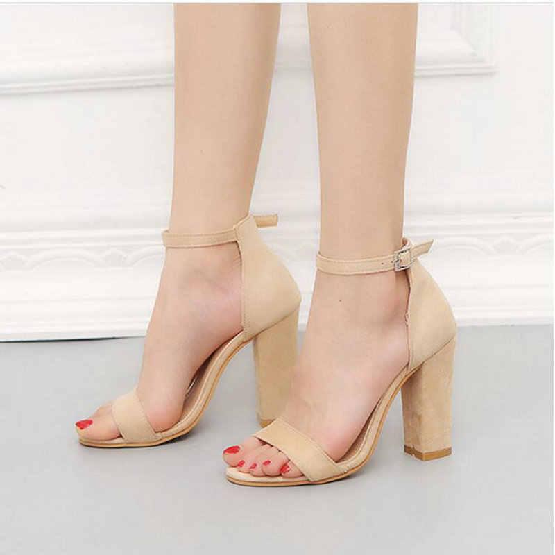 cd0c1ad62 2019 Women Pumps Sesy High Heels sandals Buckle Strap Women's Shoes Peep  Toe High Heels Wedding