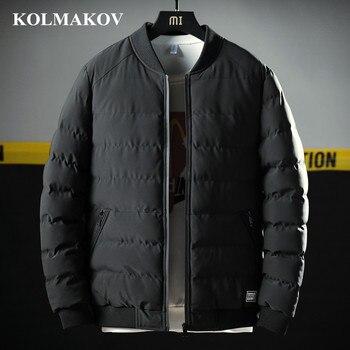 KOLMAKOV 2018 New Men's Cotton Parkas M-4XL Winter Mens Bomber Jacket Short Parkas Motocycle Cotton Hot Sale Casual Coats Male