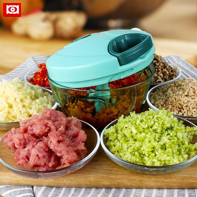 Mano-pull ajo Chopper cocina Multifuncional Mano Rápida de Verduras/frutas Prens