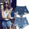 Summer Denim Shorts Female Casual Plus Size S~XL Vintage Women Jeans Shorts Tassel Denim Shorts High Quality Wash Jeans  L2224