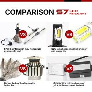 Image 3 - GEETANS H7 LED 9005 H8 H9 H11 H1 9006 H4 880 9007 9004, phare de voiture, ampoule de voiture, lumière externe Led, 2 pièces, 60W 12V H