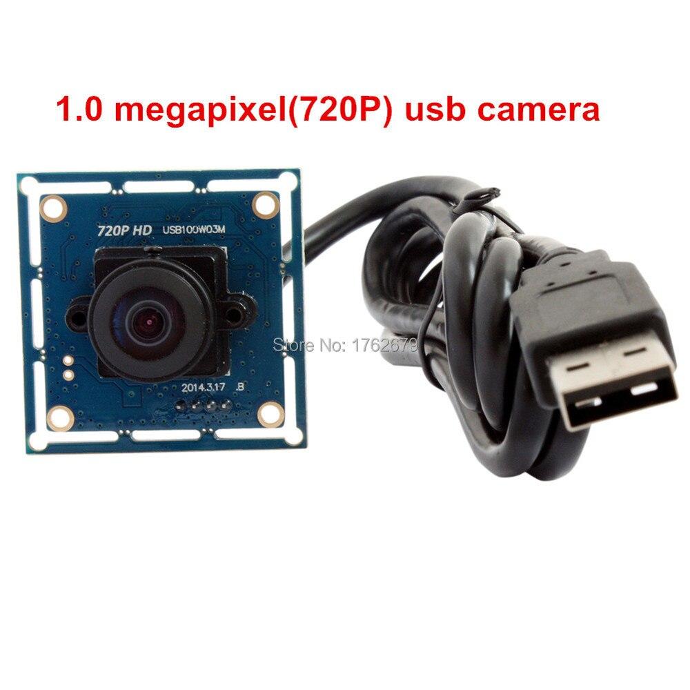 720P Wide Angle video usb camera Fisheye Lens Mjpeg 1280X720 OV9712 Micro video conference usb Camera board module стоимость