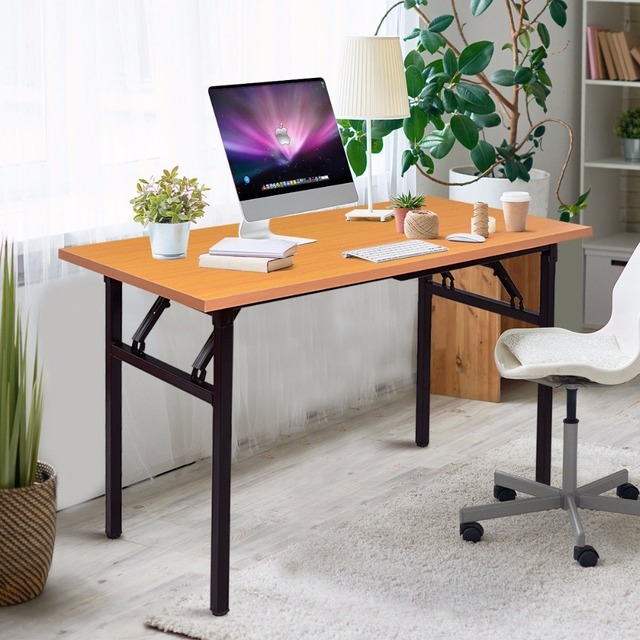 Modern wood office furniture Reclaimed Wood Giantex Portable Folding Computer Desk Pc Laptop Table Modern Wood Writing Workstation Home Office Furniture Hw56138 Furniture Ideas Giantex Portable Folding Computer Desk Pc Laptop Table Modern Wood
