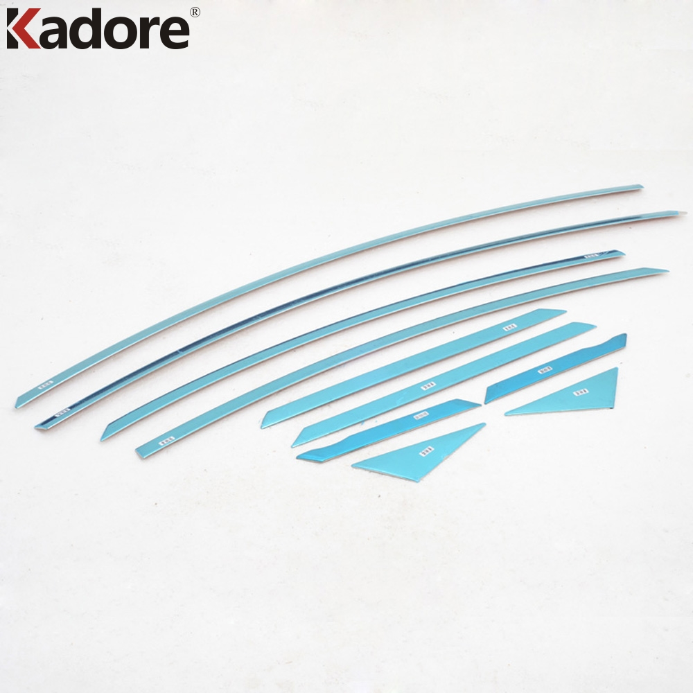 Fit For Hyundai Sonata 2011 2012 2013 Stainless Steel Window Sills Glass Lines Strips Panel Trim Chrome Styling Car Accessories stainless steel full window with center pillar decoration trim car accessories for hyundai ix35 2013 2014 2015 24