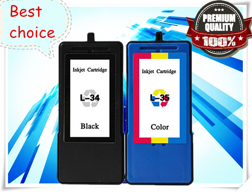 1set Ink Cartridge for Lexmark 34 35 18C0034 18C0035 X2510 X2530 X2550 X3500 X3530 X4300 X5070