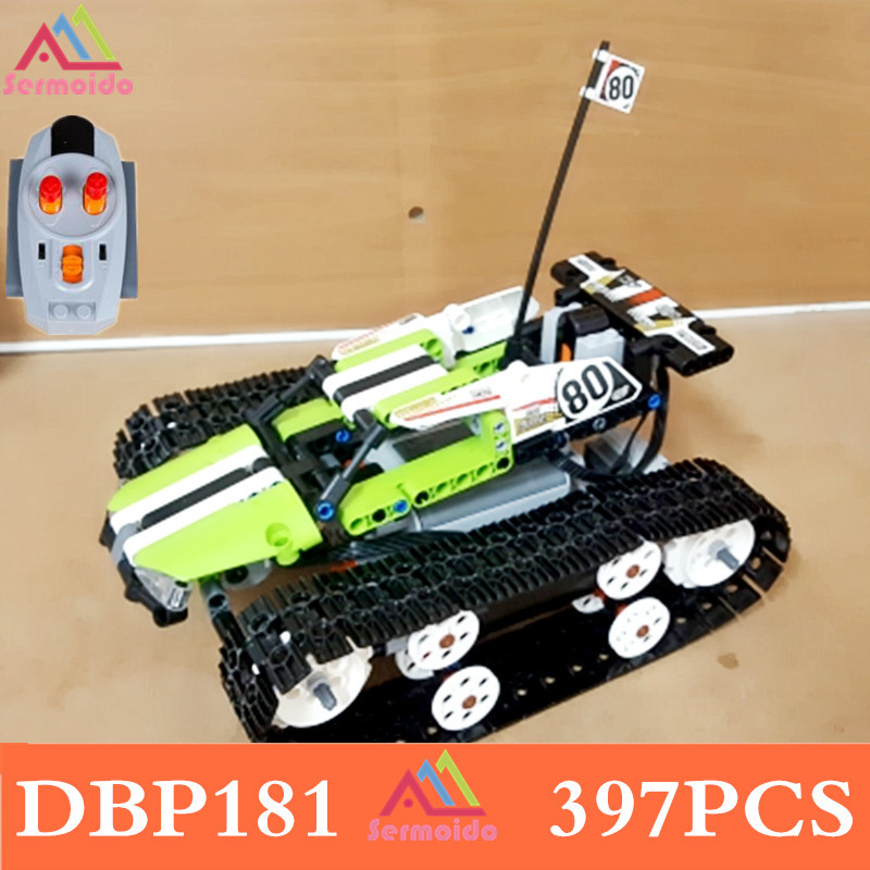 20033 Technic Series Remote Control RC Tracked Racer 42065 Model Building Block 397Pcs Bricks Toys Gift For Children DBP181