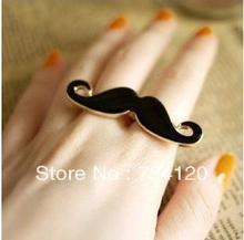 R003 New Fashion 18mm+18mm size Fashion Unique Classic Avanti beard two fingers ring, кольцо fashion ring 3colors double fingers ring